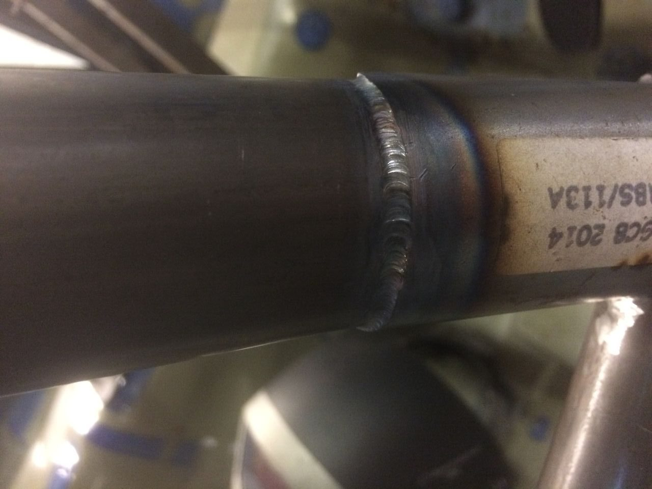 Custom Cages Tig weld example